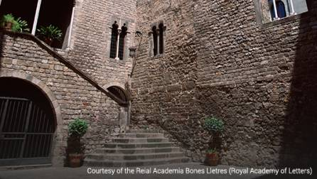 Front courtyard of the Royal Academy of Belles Lettres