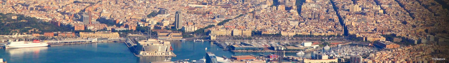 Vue aérienne de la ville.