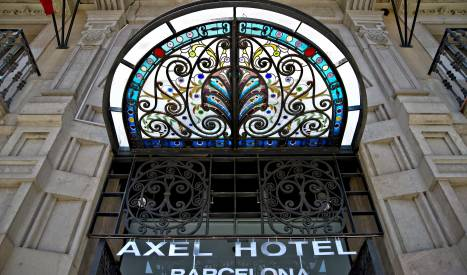 Façana de l'Axel Hotel Barcelona