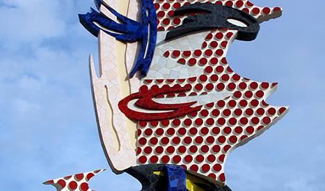 Le visage de Barcelone, de Roy Lichtenstein