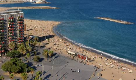 La playa de Sant Sebastià