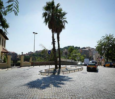 View of Plaça Mons