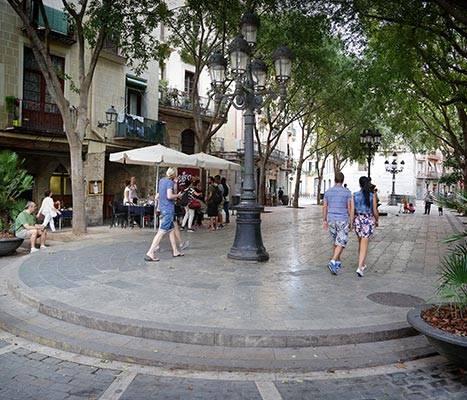 Vista de la plaça de Sant Agustí Vell